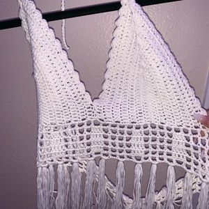 Other - white knitted bralette size small